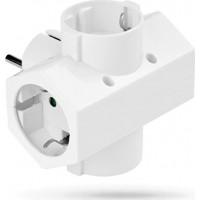 Adaptor Ρεύματος SAS 4 Θέσεων 100-15-013 Λευκός