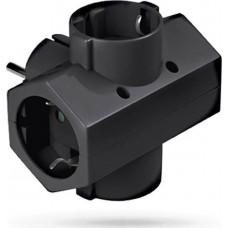 Adaptor Ρεύματος SAS 4 Θέσεων 100-15-113 Μαύρος
