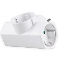 Adaptor Ρεύματος Sonora CPAW300 3 Θέσεων Λευκός