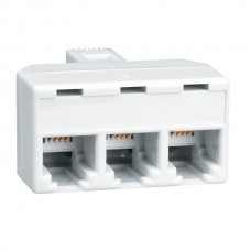 Adaptor Central RJ11 (Male) Σε Τρία RJ11 (Female)