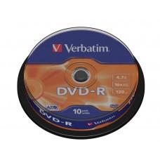 DVD-R Verbatim 4.7GB 16X 120min 10T