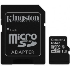 Κάρτα Μνήμης MicroSDHC Kingston 16GB Canvas Select Class10 + Adaptor