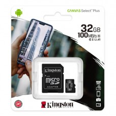 Κάρτα Μνήμης MicroSDCS2 Kingston 32GB Class10 + Adaptor Canvas Select Plus (SDCS2/32GB)