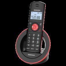 Ασύρματο Τηλέφωνο Daewoo DTD-1400B Μαύρο-Κόκκινο