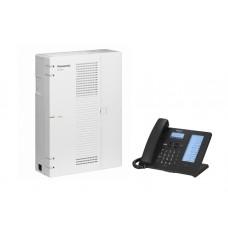 Τηλεφωνικό Κέντρο IP Panasonic KX-HTS32CE, Τηλεφωνική Συσκευή SIP Panasonic KX-HDV230NEB, Τροφοδοτικό Τηλ. Συσκευής Panasonic KX-A424CE