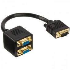 Καλώδιο Splitter VGA Nedis CCGP59120BK02 2 Θυρών